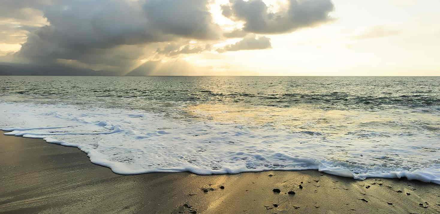 sunset reiki on the beach