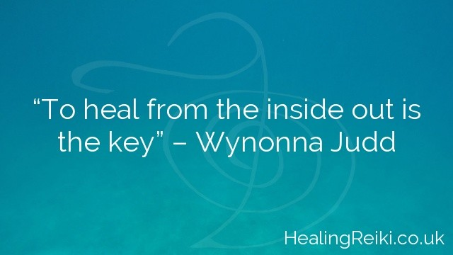 """To heal from the inside out is the key"" – Wynonna Judd"